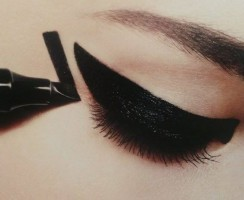 Eye make-up with felt-tip pen! Eyeliner Maybelline Master Graphic.